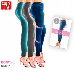 SHAPER SLIM JEGGINGS DENIM 3ER SET